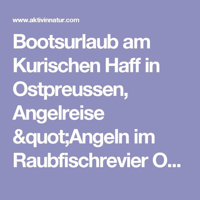 """Bootsurlaub am Kurischen Haff in Ostpreussen, Angelreise """"Angeln im  Raubfischrevier Ostpreussens"""""""