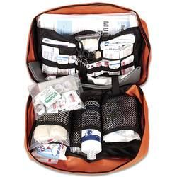 Master Camping First Aid Kit For 50 People Blaze Orange All Levels of Wounds and Trauma