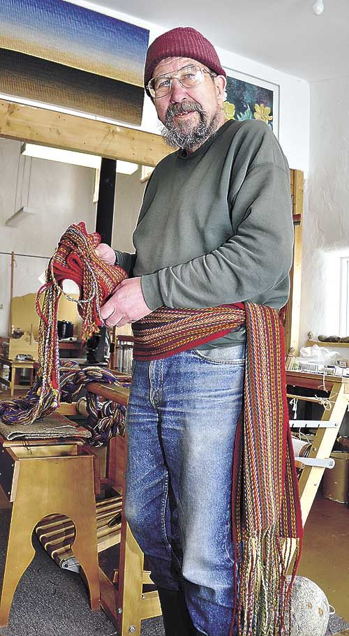 Textile artist Pat Adams has been making Métis sashes since just after moving to the historic community of Fish Creek over a decade ago.