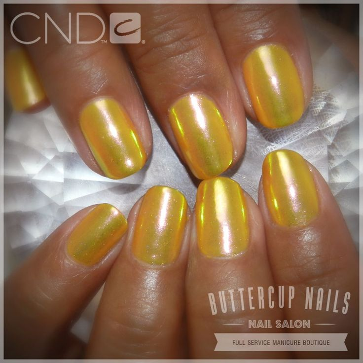CND Shellac in Banana Clips with the gorgeous Luminaura effect.  #CND #CNDWorld #CNDShellac #Shellac #nails #nail #nailstagram #naildesign #naildesigns #nailaddict #nailpro #nailart #nailartist #luminaura #socialclaws #nailartdesign #nailartofinstagram #nailartdesigns