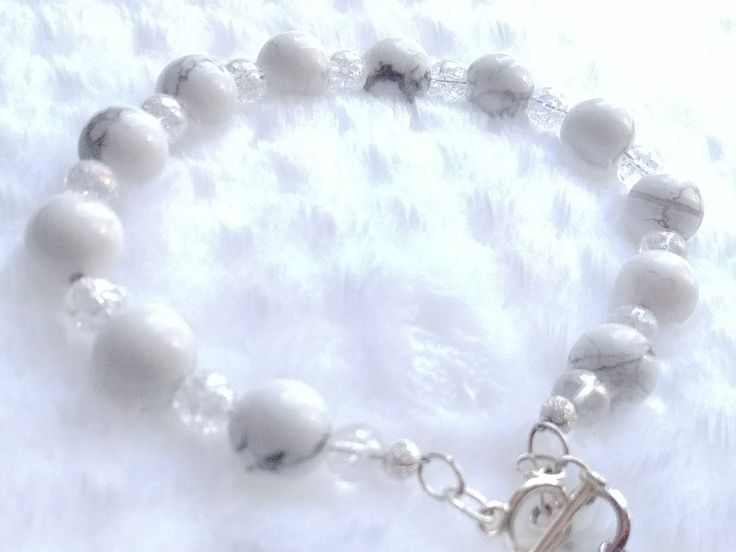 Howlite Bracelet on Etsy from shop BracebyPatti