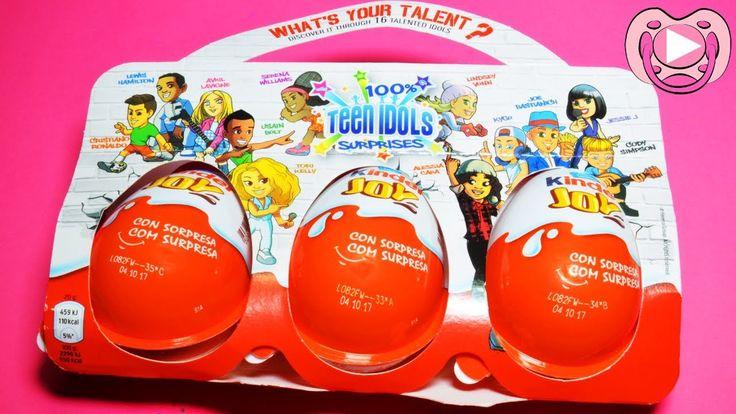 Kinder Joy Surprise Eggs - Teen Idols - Summer 2017