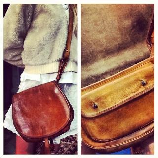 Awesome leather saddle bag #vintage #bag