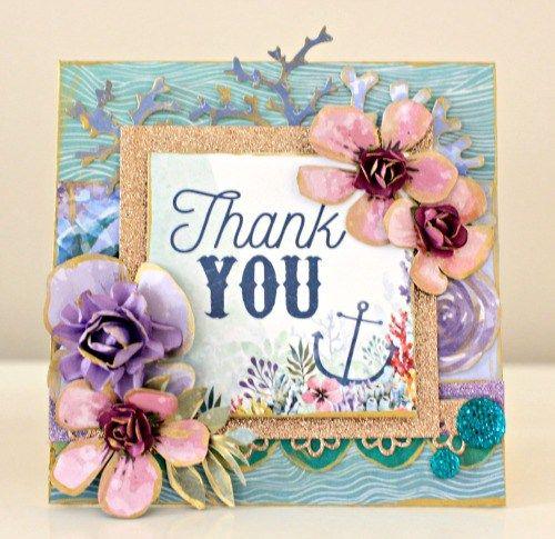 Kaisercraft Mermaid Tails Thank you Card by Alicia McNamara