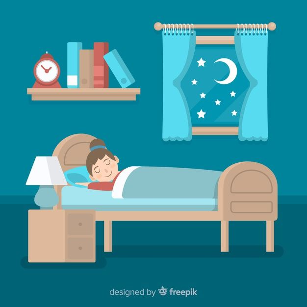 Download Flat Person Sleeping In Bed For Free Sleeping In Bed Sleeping Drawing Cute Good Night