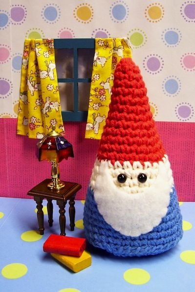 Take a fun break from your holiday making with this amigurumi crocheted gnome pattern!
