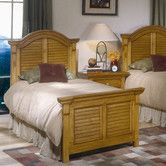 Found it at Wayfair - Cottage Traditions Panel Bed in Distressed Sandstone