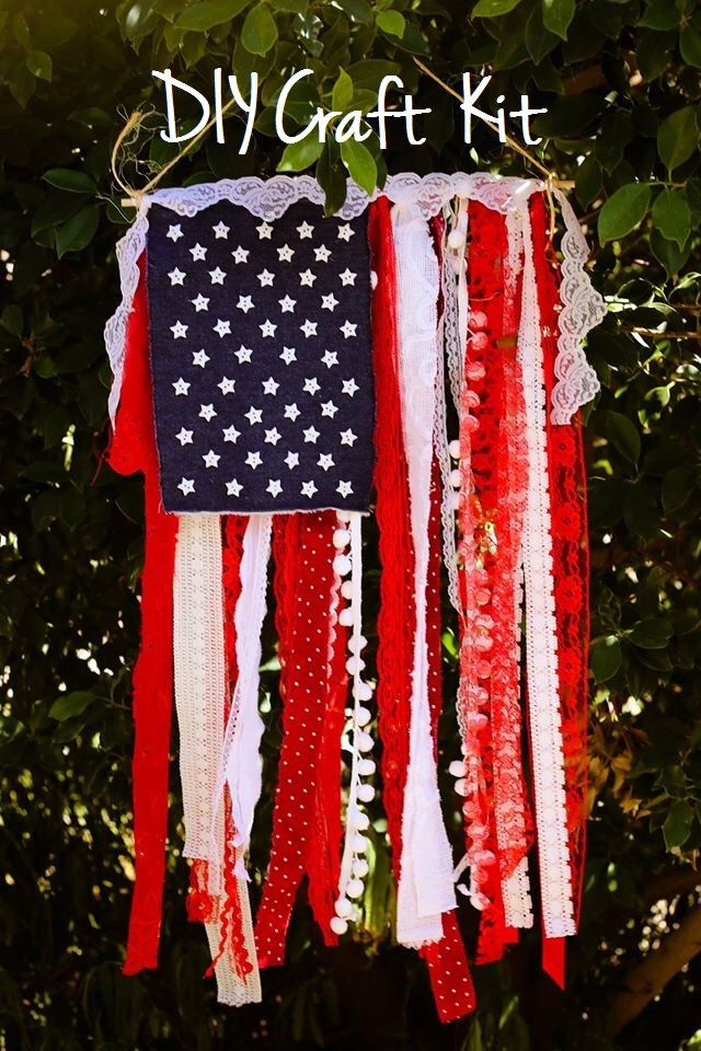DIY Craft Kit - Flag Banner - Shabby Chic American Flag - Create Your Own - Do It Yourself - Craft Supplies - Flag Banner - USA Flag Fabric by SeventhAndLark on Etsy https://www.etsy.com/listing/232823899/diy-craft-kit-flag-banner-shabby-chic