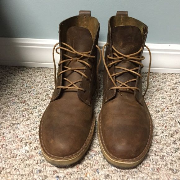 Men S Desert Mali Clark Boots Shoes Show Little Wear