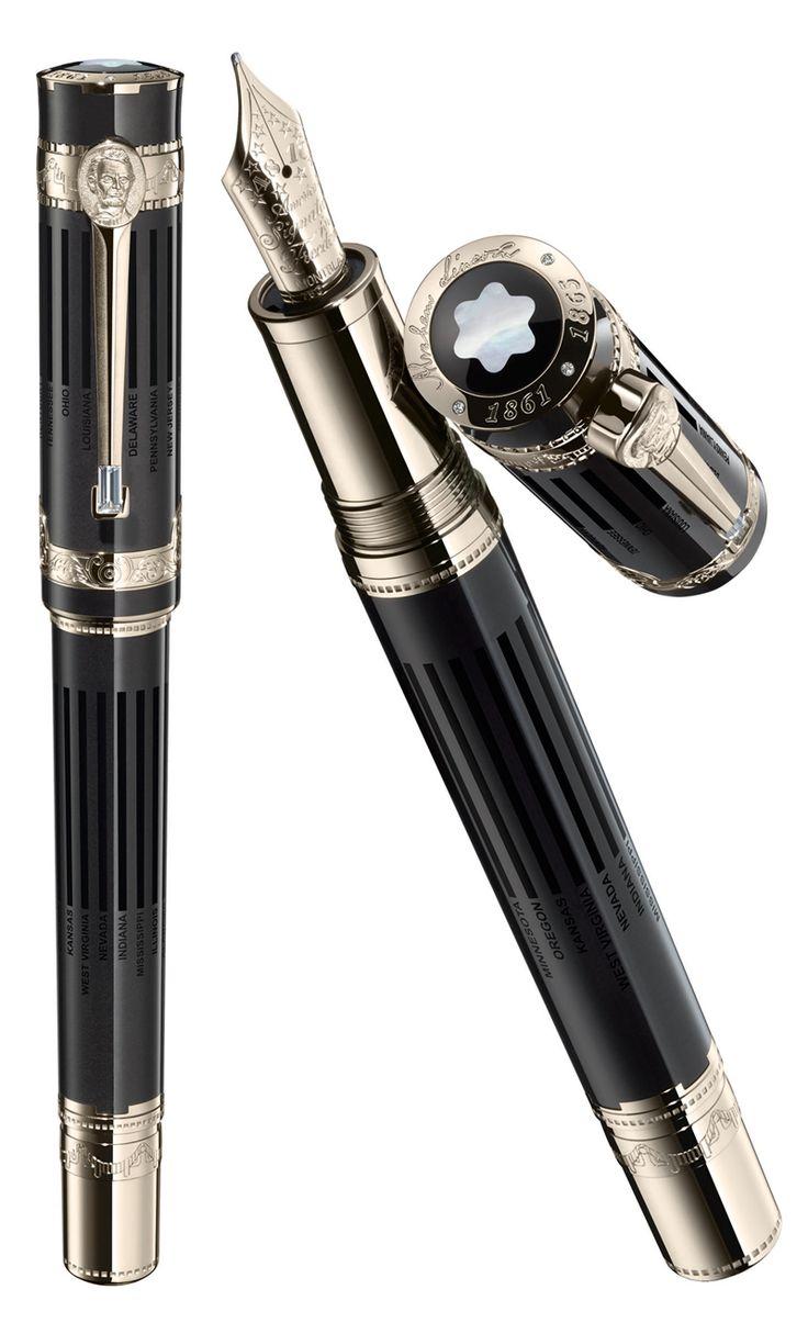 #Montblanc limited edition (50ex)  #AbrahamLincoln pen