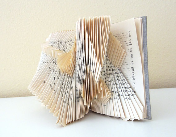Little Book Statement - book sculpture - folded book- OoaK by Dorisee, Germany