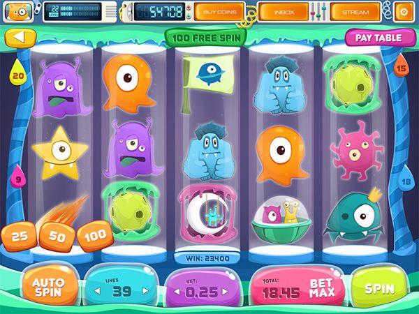 "Slot Game ""Space Slots"" by Olya Lunter, via Behance"