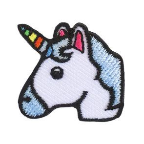 "Unicorns ARE real. Our Unicorn hipstapatch™ is an embroidered fabric patch that measures approximately 1"" x 1"" with a peel-and-stick adhesive backing. Stick it"