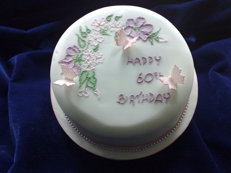 Cake Decorating Job Leeds : 80th birthday cake with butterflies and flowers ...