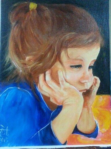 Children  çocuk  oilpaintings  akrilik