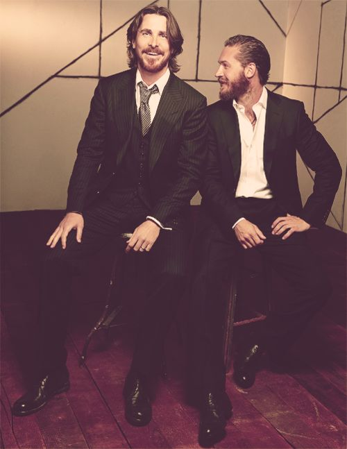 You can't go wrong ... Christian Bale and Tom Hardy