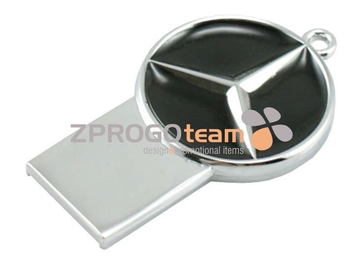 NEW: Promotional metal mini USB flash drive Mercedes.
