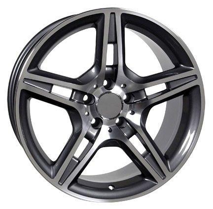 "18"" Fits Mercedes Benz - AMG Replica Wheel - Gunmetal 18x8.5 - Stock Wheel Solutions"