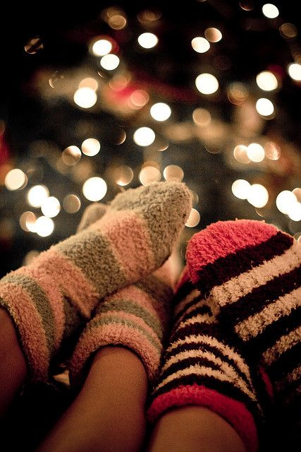 Pulling on a pair of soft, warm, cozy, snuggly socks over my icy, cold, bare feet makes me happy!
