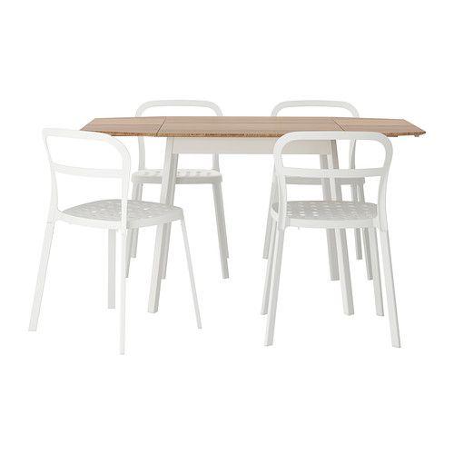 IKEA PS 2012/REIDAR Mesa con 4 sillas IKEA El tablero es de bambú, un material flexible y resistente.
