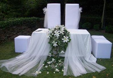 Düğün Organizasyonu , Düğün gelin masası kumaş süslemesi , Gelin masası modelleri
