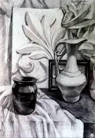 Картинки по запросу натюрморт с гипсовой розеткой