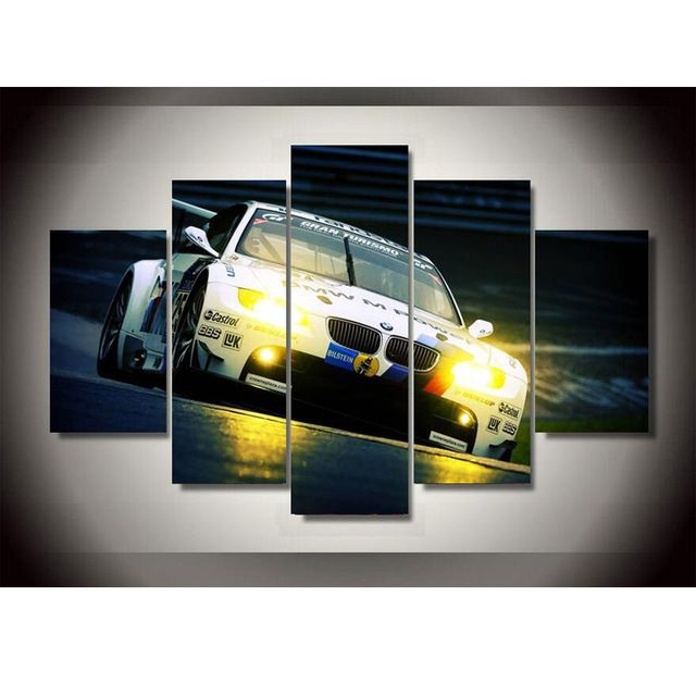 5 Piece canvas art New Style BMW Spuer Sports Car Oil Painting Wall Art Paintings Decoration for home Poster PrintingC-415 //Price: $23.86 & FREE Shipping //     #hashtag1