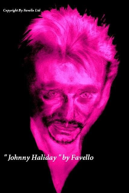 "*** DEAR FRIENDS >> TODAY >>"" TRIBUTE TO MUSIC STARS "" >>. "" JOHNNY HALIDAY  "" By Favello *** ( My Version ) ! Yes !"
