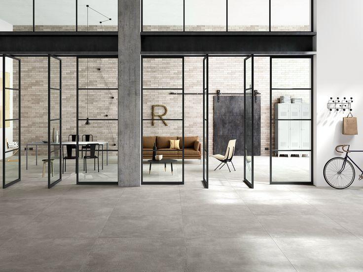 Pavimento in gres porcellanato effetto cemento XLSTREET - MARAZZI