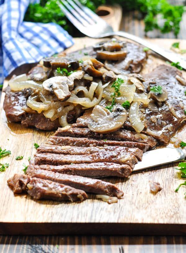 Dump And Bake Smothered Round Steak Recipe Round Steak Recipes Round Eye Steak Recipes Tenderized Round Steak Recipes