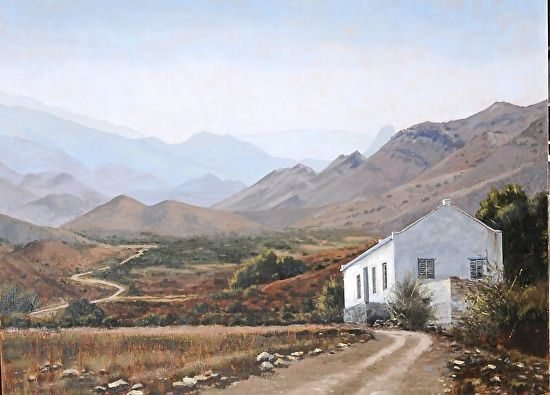 Prince Albert Cottage by Rika De Klerk Oil ~  x