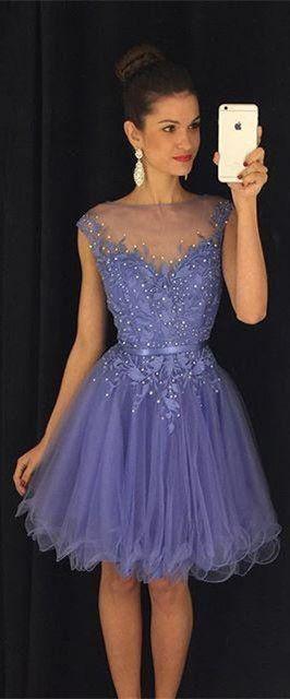 2016 homecoming dress, short homecoming dress, purple homecoming dress,lavender…