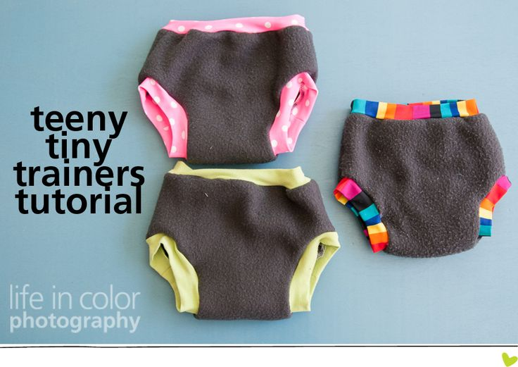Teeny Tiny Trainer Tutorial » Life in Color Photography  For elimination communication and potty training too. Uses scrap material.