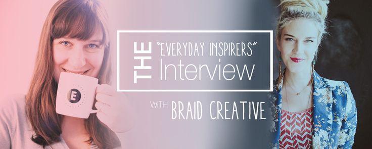 Everyday inspirer: Kathleen [from Braid Creative] www.inspiredbyemma.com