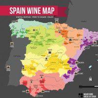 Spain Wine Regions Map by Wine Folly