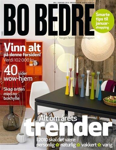 FREEMOVER Rolf™ Candleholders on Magazine Cover BoBedre.no, 2010.