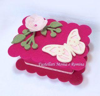 kit feltro scatola bauletto cofanetto scatolina bomboniera fai da te idea regalo pannolenci