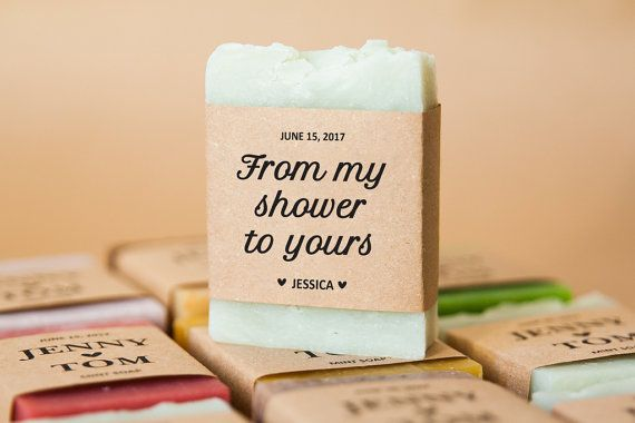 From my shower to yours soap favors. Bridal shower gifts for