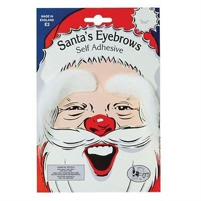 Santa #claus white #eyebrows christmas xmas fancy dress #accessory p576,  View more on the LINK: 	http://www.zeppy.io/product/gb/2/391324014204/