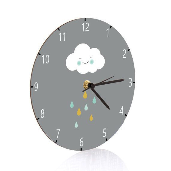 Kids Wall Clock Nursery Clock Nursery Wall Clock