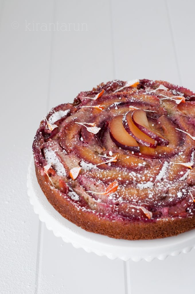 ... is best captured in a form of plum upside-down almond cake :) #dessert