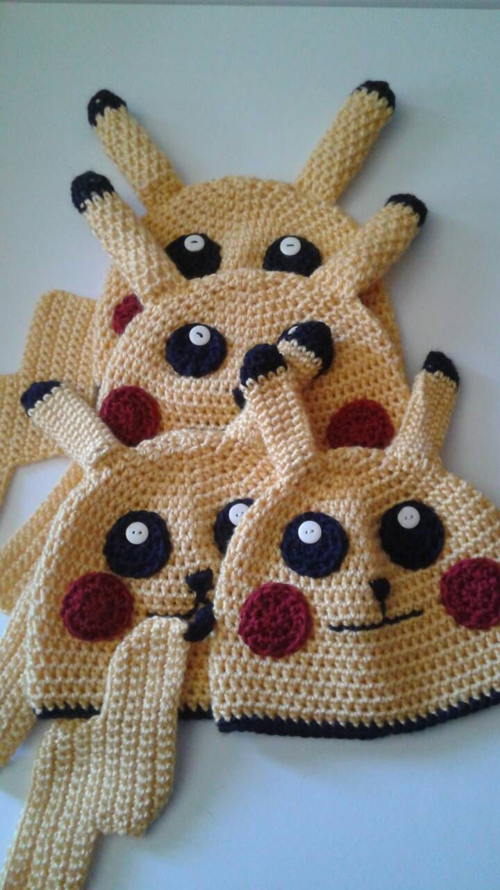 Pikachu beanie, pokemon beanie, adult beanies, teen beanie by BeauMelange on Etsy