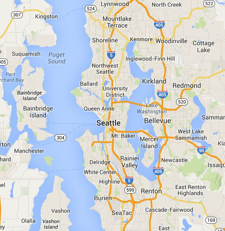 1000 Images About Map Of Seattle Amp Surrounding Areas On