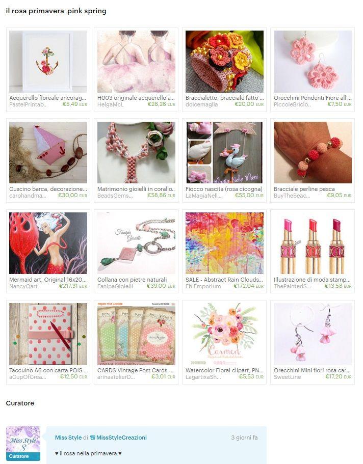 Etsy la Treasury di MissStyle ,Primavera rosa, pink spring