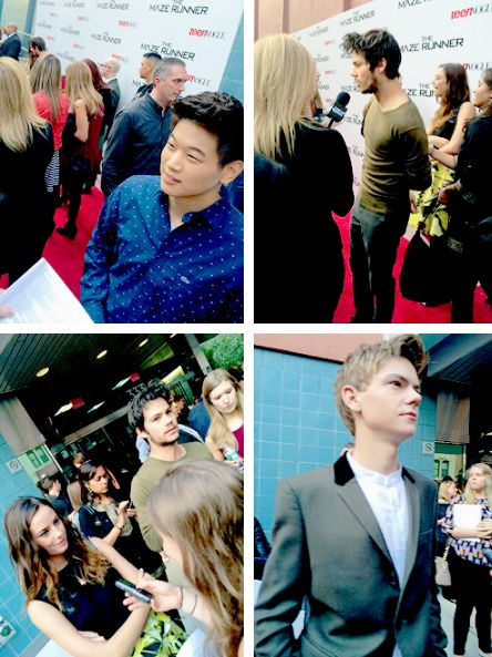 Dylan O'Brien, Ki Hong Lee, Thomas Sangster and Kaya ...