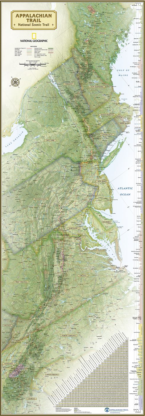 National Geographicu0027s wall map of the Appalachian