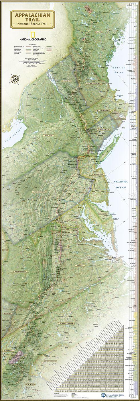 Pinterestte 25den fazla en iyi Map of appalachian trail fikri