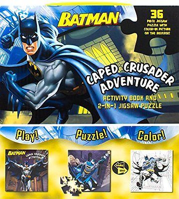 Batman #caped #crusader adventure (activity book and 2-in-1 jigsaw #puzzle),pb,ba,  View more on the LINK: http://www.zeppy.io/product/gb/2/152389568083/