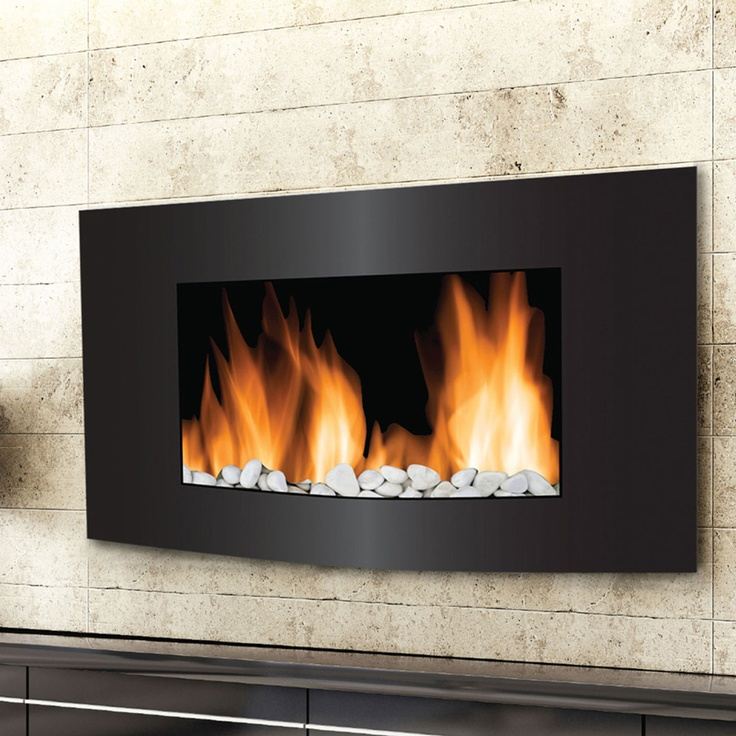 wall-mounted electric fireplace? so crazy cool