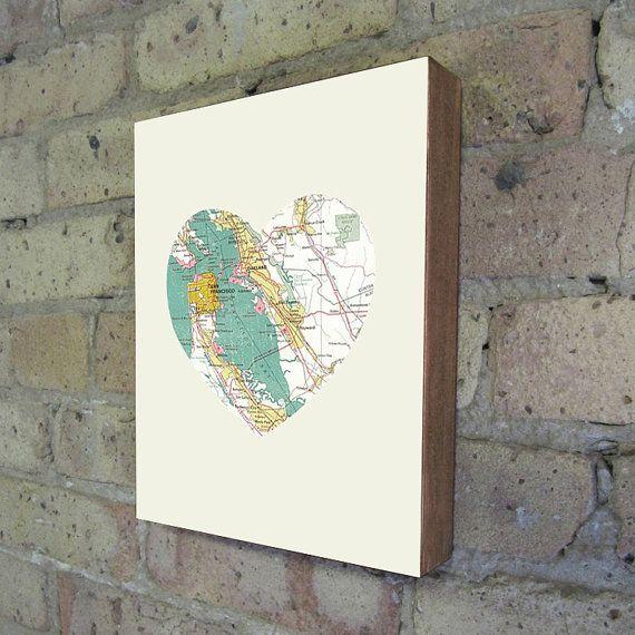 SF heart: Design Inspiration, San Francisco California, Blocks Art, Blocks Prints, Art Prints, Wood Blocks, Kevin Lucius, Cities Heart, Heart Maps